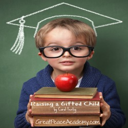"""Parents of a Gifted Child this ready guide is for you. Book Review of """"Raising a Gifted Child"""" by Carol Fertig. at Great Peace Academy.com"""
