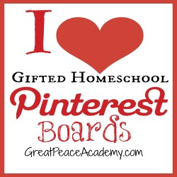 Gifted Homeschool Pinterest Boards | Great Peace Academy
