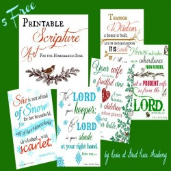 Printables Scripture Art for Homemakers | Great Peace Academy