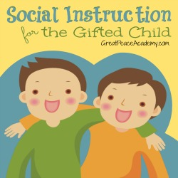 Social Instruction for the Gifted child | Great Peace Academy.com