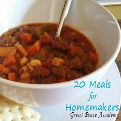 Meals for Homemakers to Make in 20 Clicks   Great Peace Academy