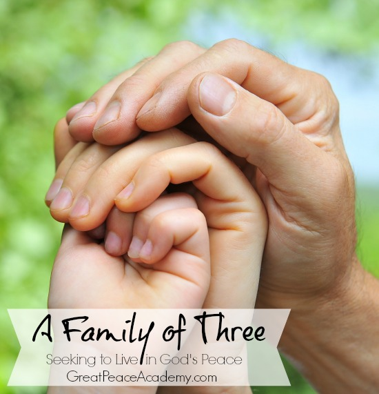 A Family of Three seeking God's Peace | Renée at Great Peace