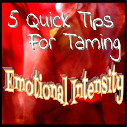 Homeschool with Emotional Intensity
