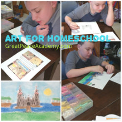 Art in Homeschool with You ARE an Artist Curriculum | Great Peace Academy