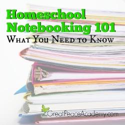 Homeschool Notebooking 101 | Great Peace Academy