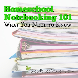 Homeschool Notebooking 101   Great Peace Academy