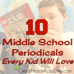 middle school periodicals