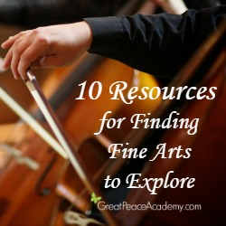 10 Resources for finding Fine Arts to Explore | Great Peace Academy