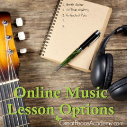 Learning to Play Music Online for Homeschool   Great Peace Academy #ihsnet