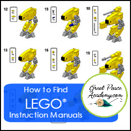 How to Find LEGO Instruction Manuals   GreatPeaceAcademy.com