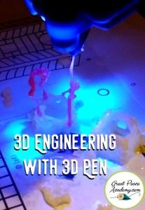 Ideas for Teaching STEM utilizing a 3d Pen in Homeschool | GreatPeaceAcademy.com