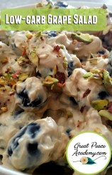 Low-Carb Grape Salad Recipe | GreatPeaceAcademy.com