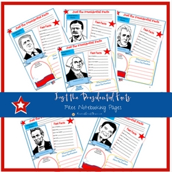 Just the Presidential Facts FREE Notebooking Pages   ReneeatGreatPeace.com #ihsnet #homeschool