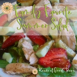 Summer Dinner Idea: Family Favorite Summer Salad | Renée at Great Peace #summerdinner #mealplanning #family