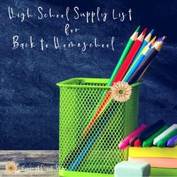 High School Supply List for Back to Homeschool | Renée at Great Peace #homeschool #ihsnet