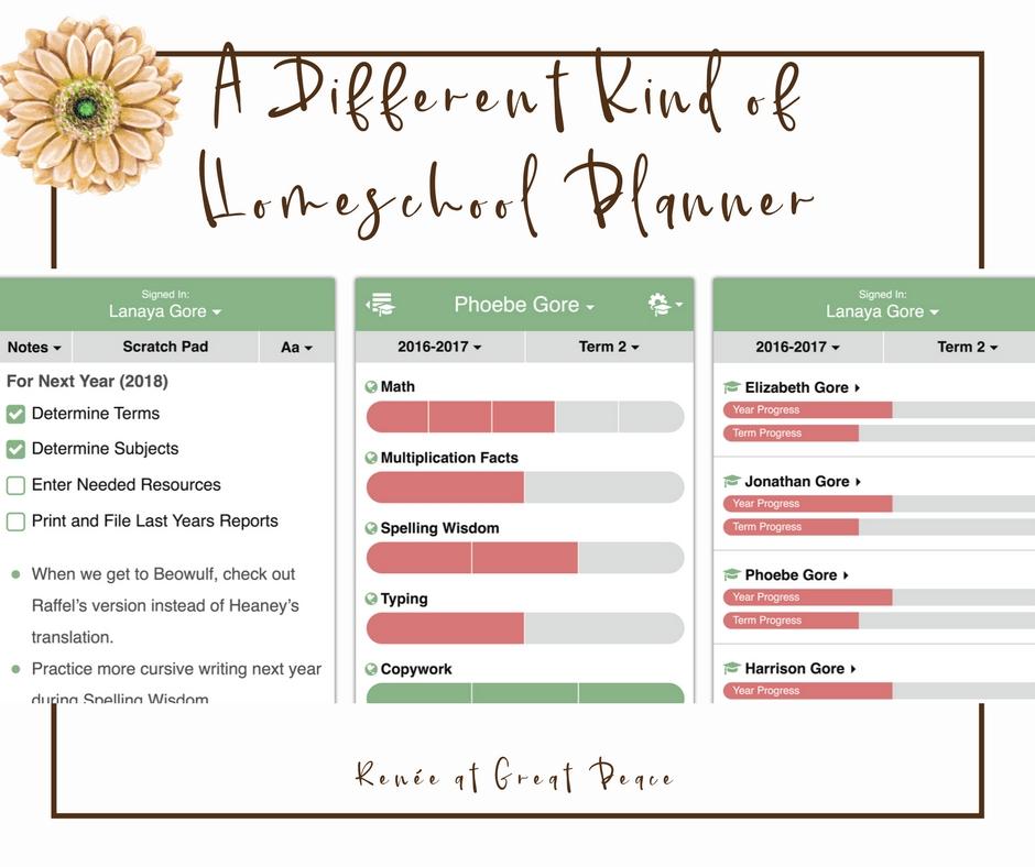 Learn about a New Flexible Homeschool Planning App | Renée at Great Peace #ihsnet