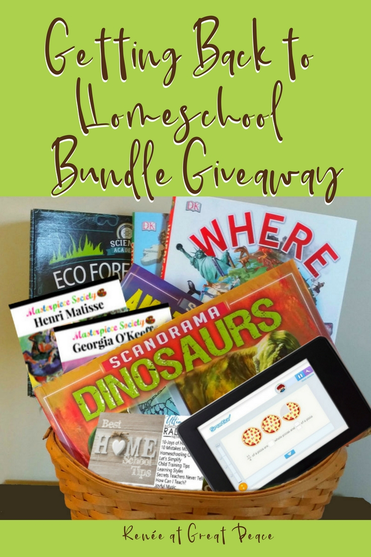Getting Back to Homeschool Bundle Giveaway | Renée at Great Peace