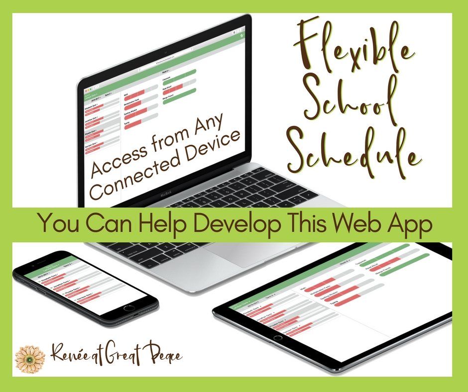 Learn about a New Flexible Homeschool Planning App | Renée at Great Peace #ihsnet