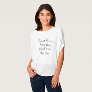 Great Peace Quote - Psalm 119:165 Flowy Circle Top | Renée at Great Peace #homeschool #ihsnet