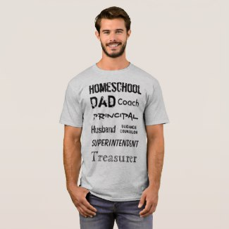 Homeschool Dad Roles Tee | Renée at Great Peace #homeschool #ihsnet