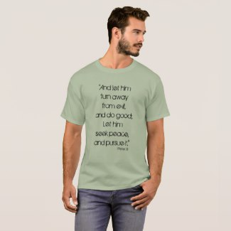 Seek Peace & Pursue it Men's Quote Tee, 1 Peter 3:1 | Renée at Great Peace #homeschool #ihsnet
