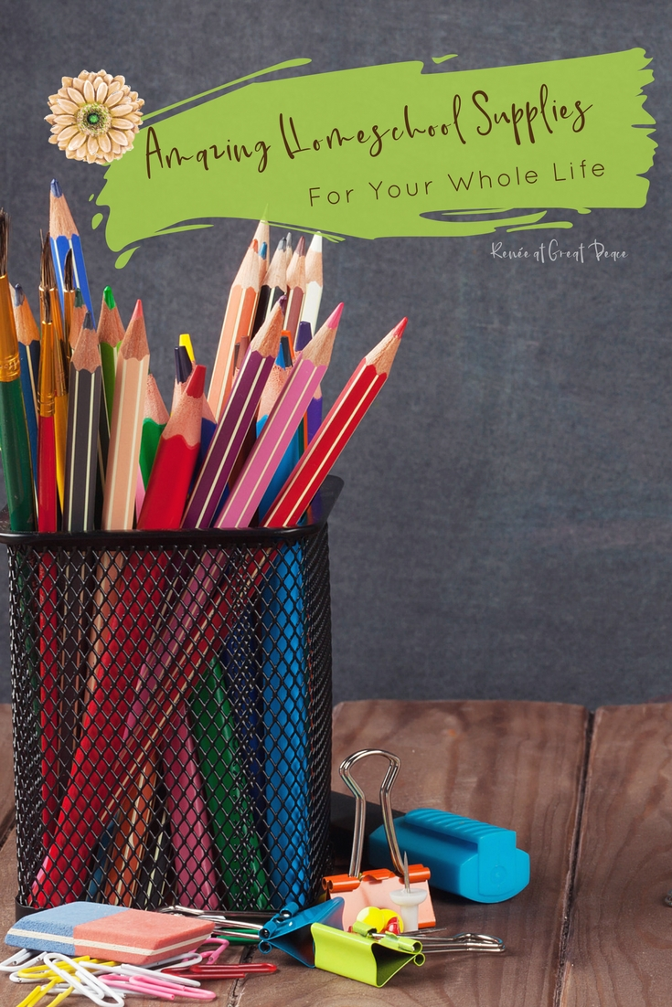 Amazing Homeschool Supplies You can Use in your Whole Life  Uses for homeschool supplies, around your household. Renée at Great Peace #ihsnet #homeschool #resources