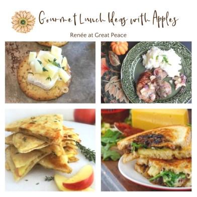 Gourmet Lunch Recipes Using Apples via Renée at Great Peace #mealplanning #lunchtime #homemaker #ihsnet