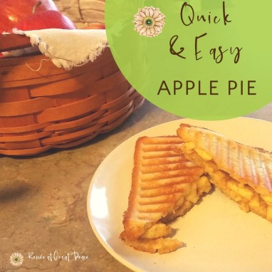 Quick & Easy Apple Pie Snack via Renée at Great Peace #mealplanning #homemaker #ihsnet