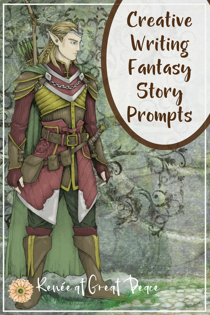 Fantasy Story Creative Writing Prompts for Homeschool | Renée at Great Peace #homeschool #creativewritng #storyprompts #ihsnet