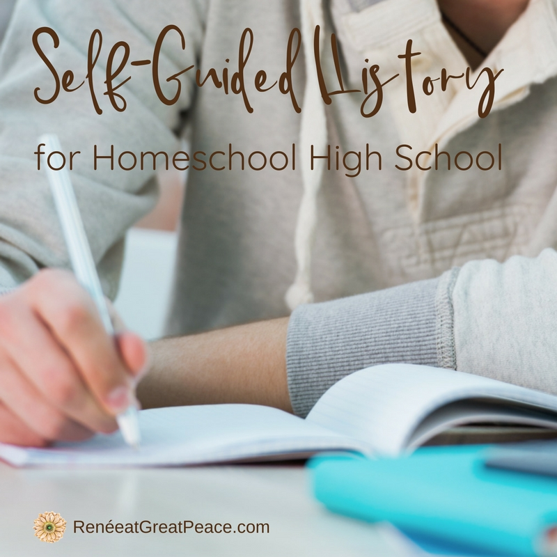 Self-Guided History for Homeschool High School | Renée at Great Peace #homeschool #history #highschool #ihsnet