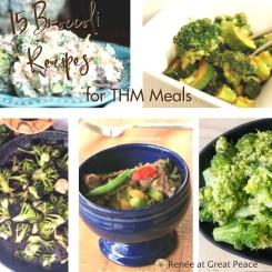 15 Broccoli Recipes for Trim Healthy Mamas | Renée at Great Peace #mealplanning #Trimhealthymama #recipes #broccoli