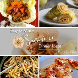 15 Easy to Make Summer Dinner Ideas Get Dinner On the Table With Ease | Renée at Great Peace #mealplanning #summerdinnerideas #ihsnet