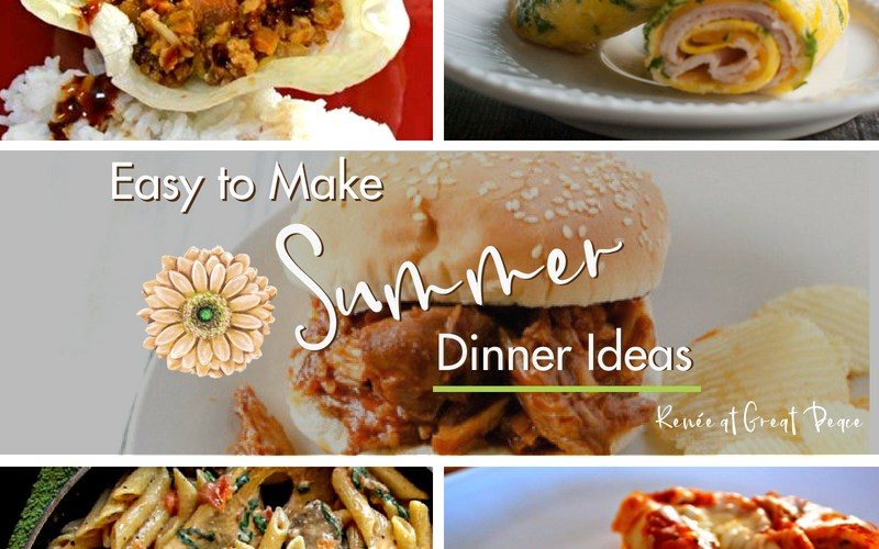 15 Easy to Make Summer Dinner Ideas Get Dinner On the Table With Ease | Renée at Great Peace #mealplanning #summerdinnerideas #ihsnet