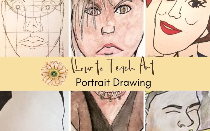 How to Teach Homeschool Art Portrait Drawings | Renée at Great Peace #homeschoolart #portraitdrawings #art #ihsnet
