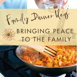 Family Dinner Ideas Help to Bring Peace to the Family Table | Renée at Great Peace #mealplanning #dinnerideas #familydinner #ihsnet