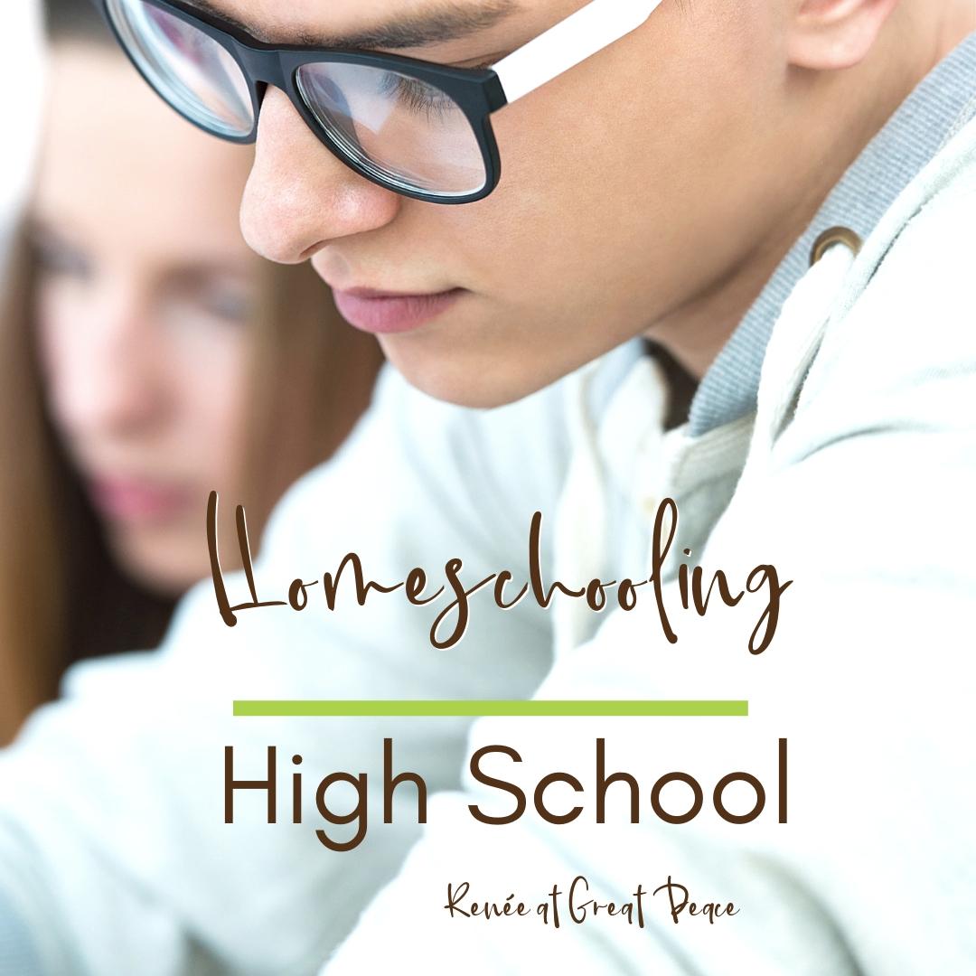 Homeschooling High School with Tips, Tricks & Resources   Renée at Great Peace #homeschool #highschool #ihsnet