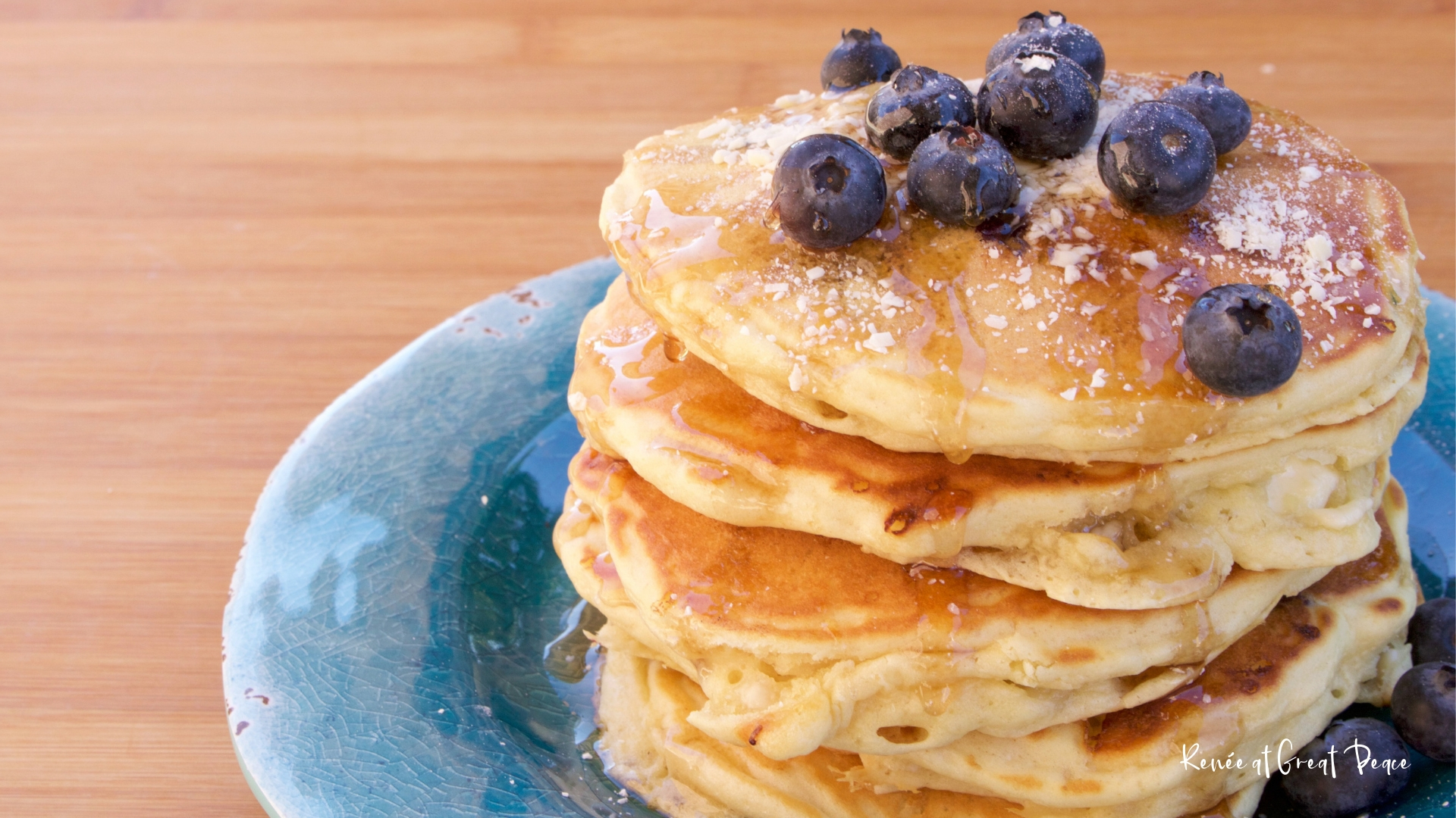Blueberry Pancakes with White Chocolate