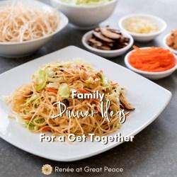 Family Dinner Ideas for a Get Together   Renée at Great Peace #mealplanning #familydinner #familydinnerideas #dinner #ihsnet