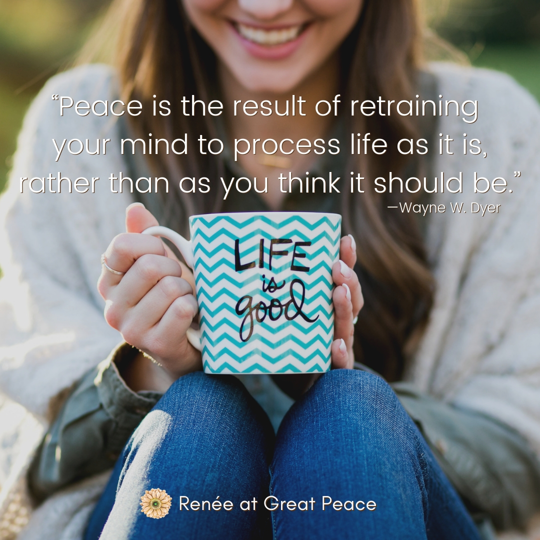 Peaceful Life Quotes for when Life is Overwhelming | Renée at Great Peace #peace #peacefullife #quotes #peacefulliving #seekingpeace #Christian #family #ihsnet