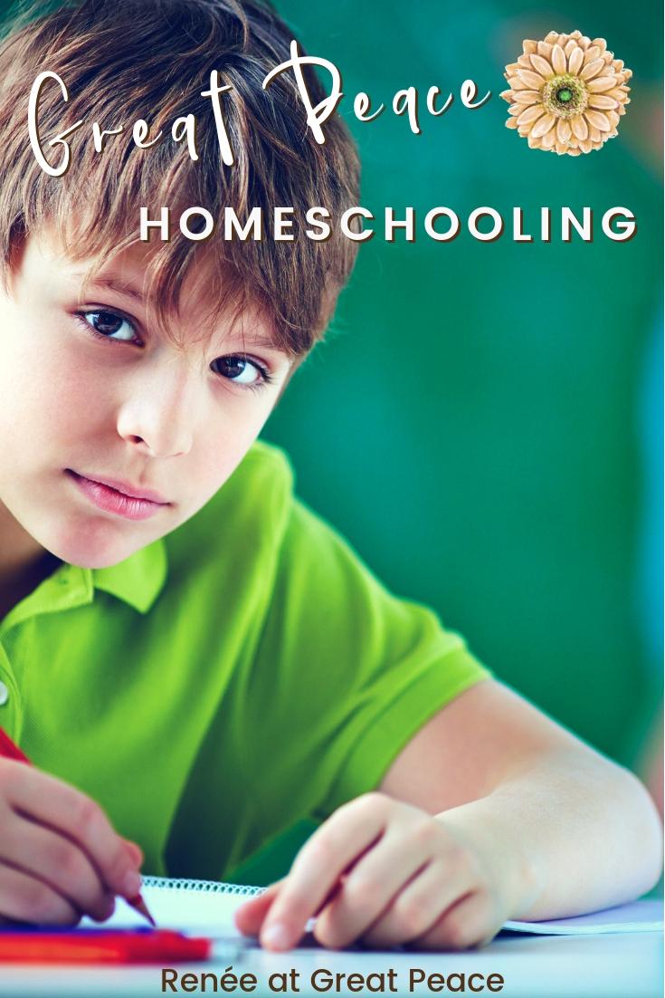 Great Peace Homeschooling | ReneeatGreatPeace.com #homeschool #ihsnet