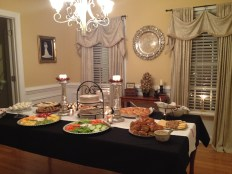 Hor D'oeuvres in the dining room