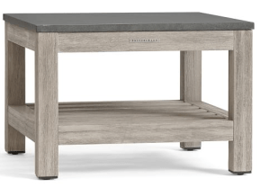 Outdoor Coffee Table http://www.potterybarn.com/products/connor-stone-wood-bunching-table/?pkey=coutdoor-coffee-tables&&coutdoor-coffee-tables