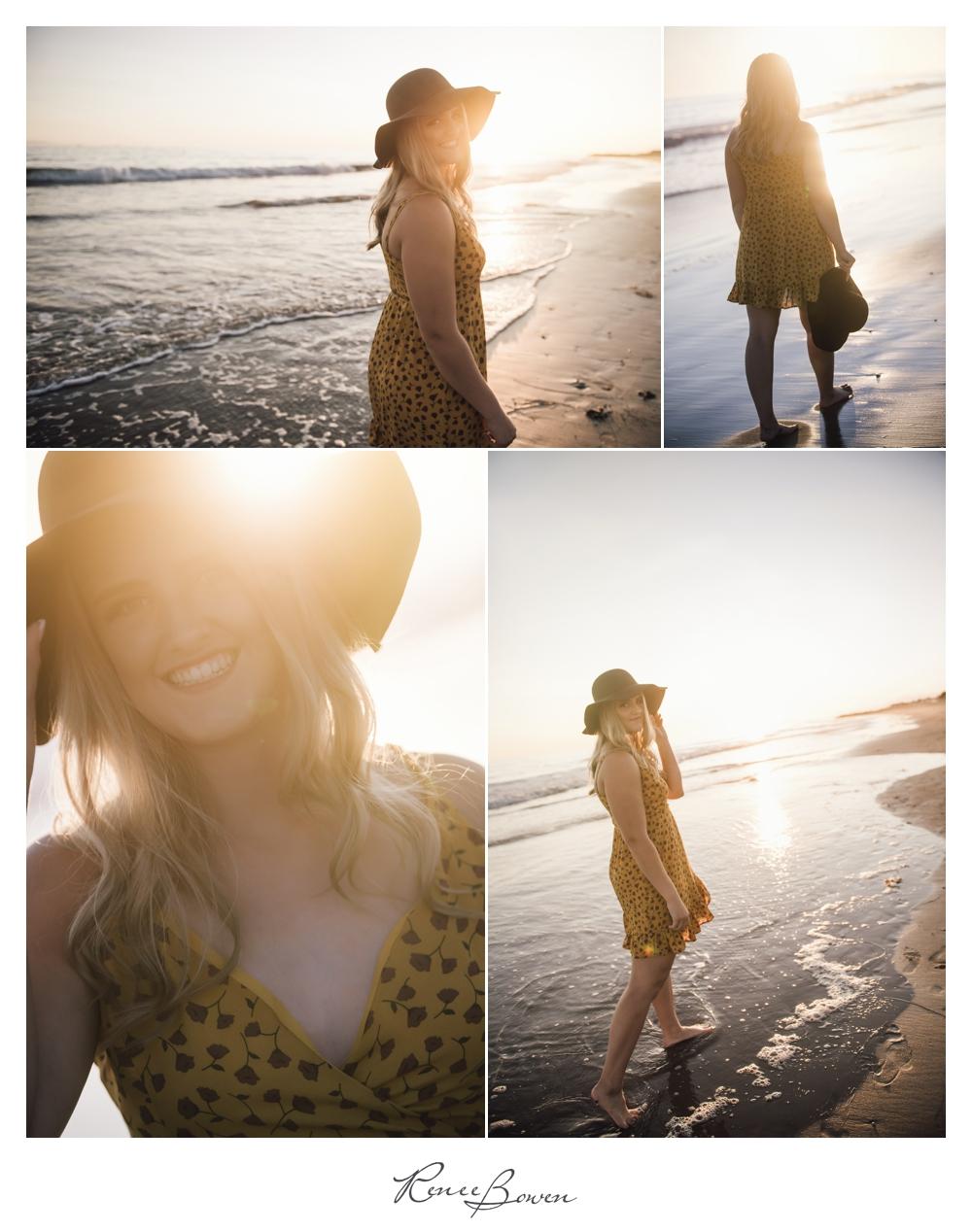 gen z podcast sunset at beach