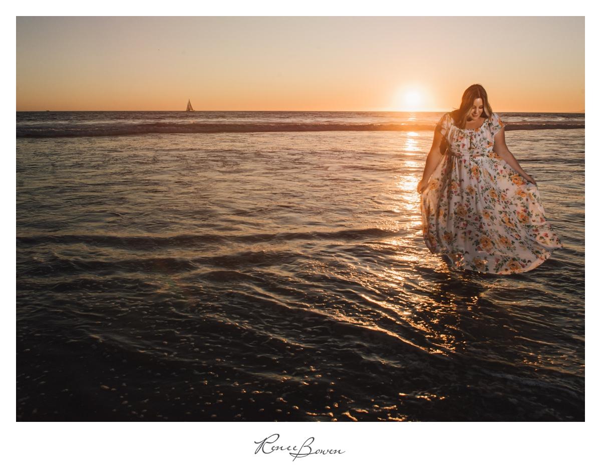 gen z podcast walk by the sea sunset