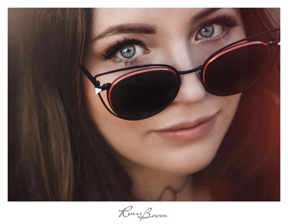 girl with fendi sunglasses