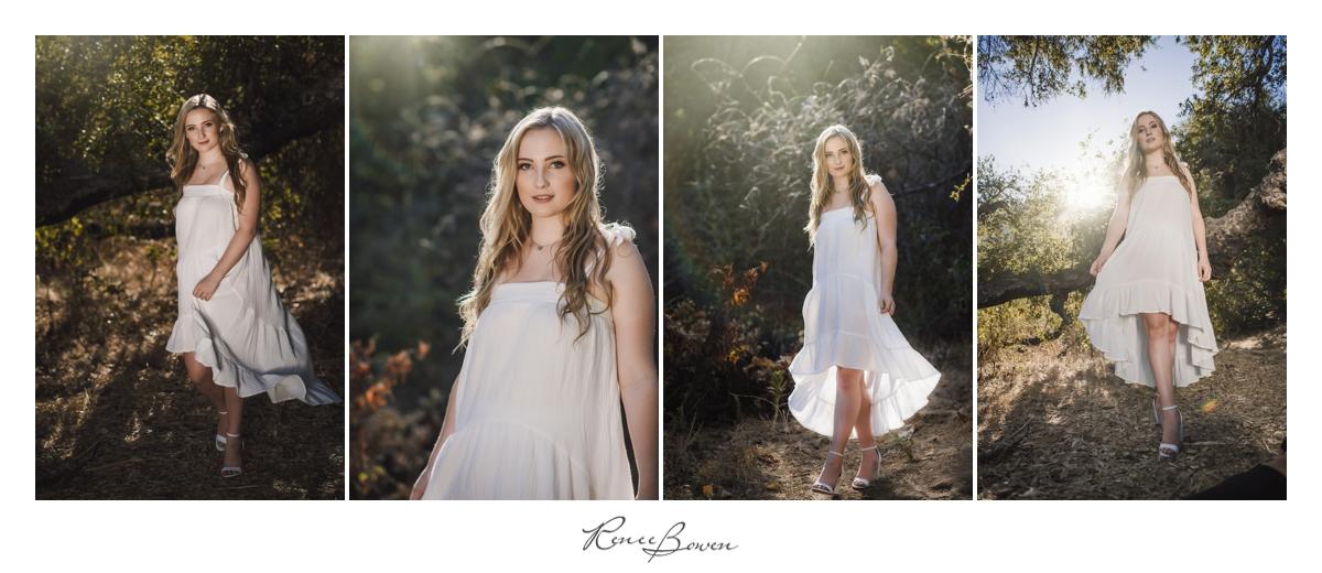 girl in white dress in nature