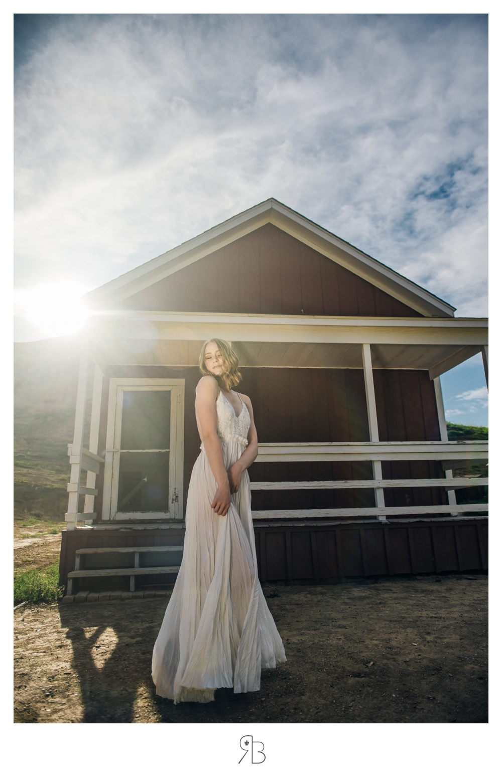 girl in white dress backlit renee bowen seniors