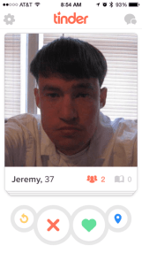 Jeremy cuts his own hair.