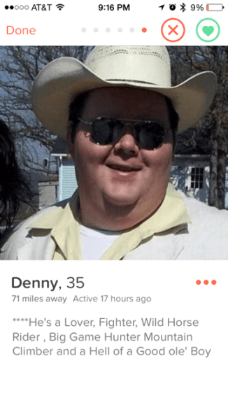 Denny is all hat and no cattle.