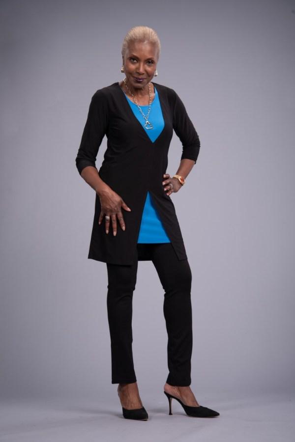 Shop Attitudes by Renee Como Jersey Overlay Tunic & Set